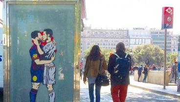 Days Before El Clasico, Artist Tenderly Transforms The World's Biggest Rivalry