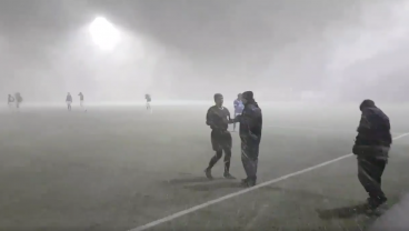 The Game Goes On, Not Matter The Conditions In Iceland