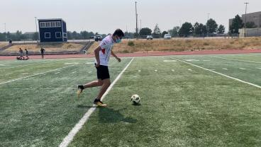 David Completes A Soccer Workout While Wearing 10 Masks