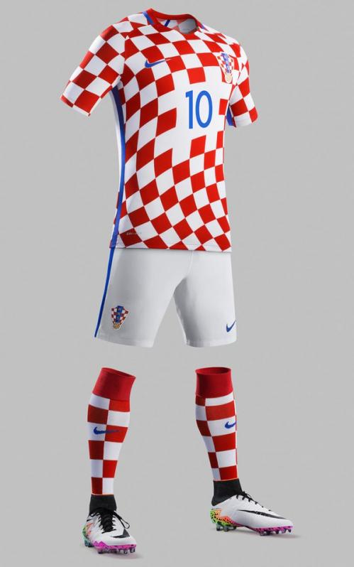 Croatia Home Kit Euro 2016