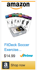 Last Minute Soccer Gifts Amazon Prime - FitDeck Exercise Soccer Playing Cards