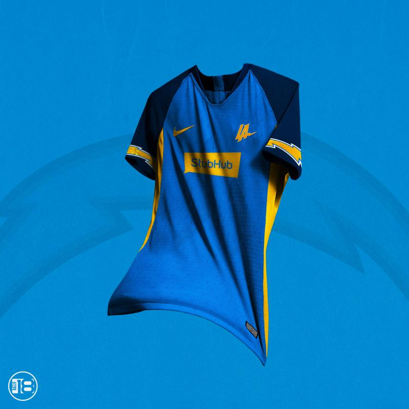 Los Angeles Chargers Soccer Jersey