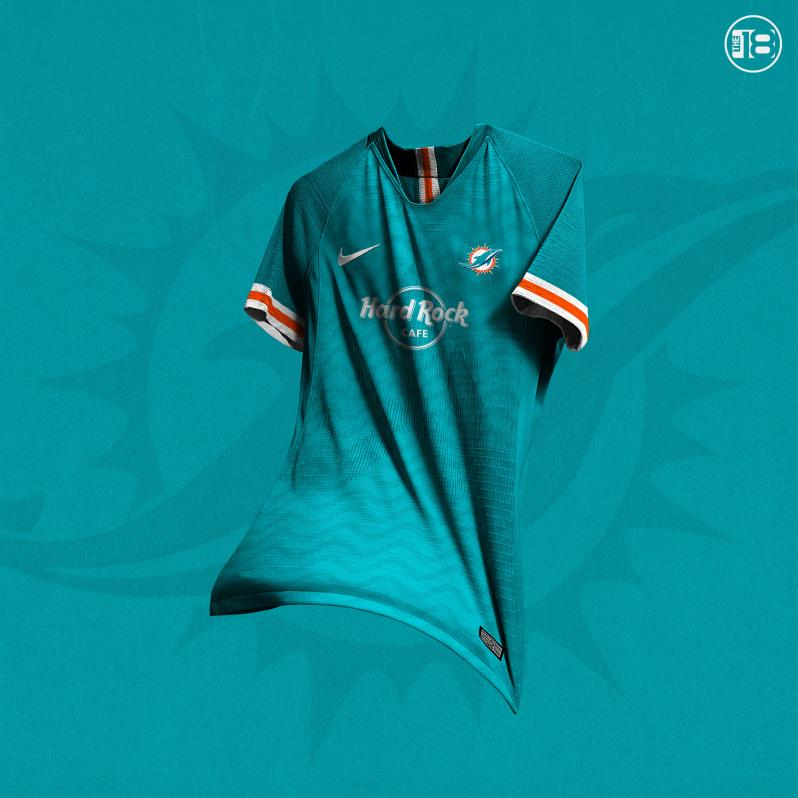 Miami Dolphins Soccer Jersey