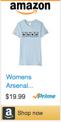 Best Soccer Gifts - Arsenal periodic table shirt